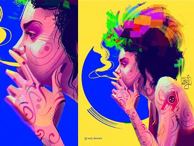 Gia samji illustrator freelance illustrator girl character design illustrator illustration