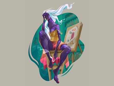 purple 💜 concept illustration concept art dribbble digital art editorial illustration editorial art procreate illustrator illustration