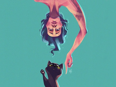 Why they are sooo special? catlovers flatdesign cat concept art design editorial art editorial illustration illustrator illustration