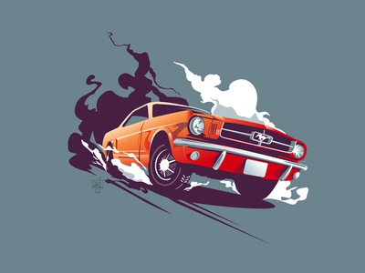 mustang adobe illustrator adobe vector illustration mustang vector flag design design editorial art editorial illustration illustrator illustration