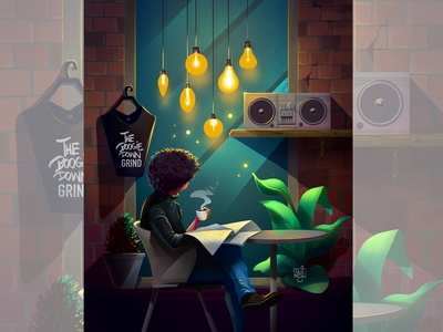 cover art coffee cover illustration podcast art concept art character design design illustrator illustration