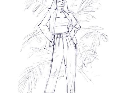 Attitude characterdesign girl character stylized woman girl character design illustrator illustration