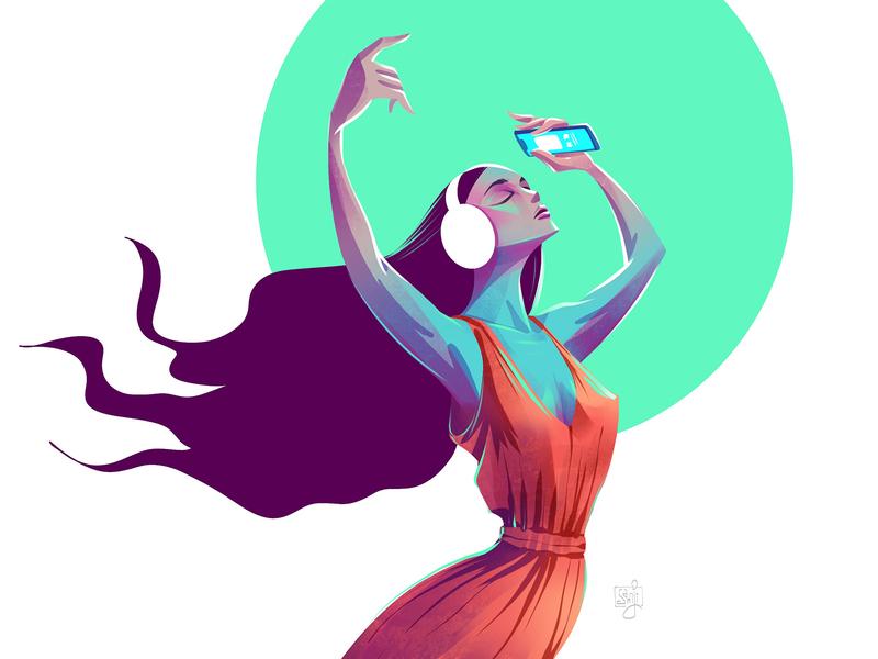 Breeze women in illustration digital art girl women character design flag design editorial art editorial illustration illustrator illustration