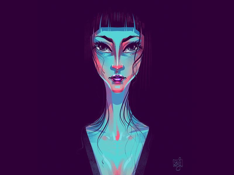 Gaze girl female gaze women concept art character design illustrator illustration