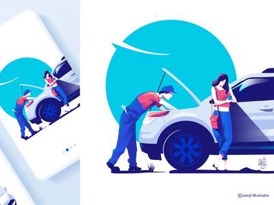 flipride girl design freelance illustrator ui illustration app illustration app design uidesign car procreate women flag design illustrator illustration