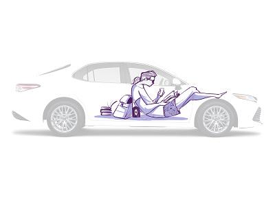 Car wrap concept illustrators samji car car wrap design procreate character design illustrator illustration