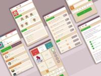 Word Puzzle Game - Mobile UI Design