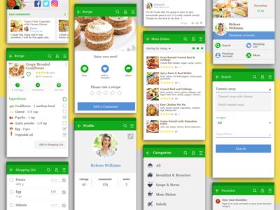 Recipe App - Mobile UI Design