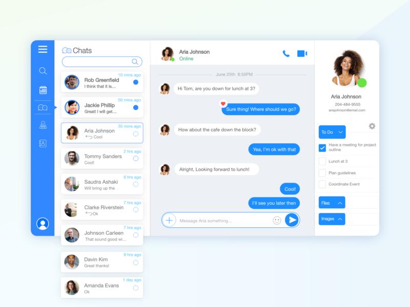 Messaging Desktop App by Jenny Yao on Dribbble