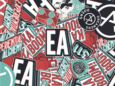 Agency EA Rebrand Stickers