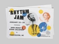 Rhythm Jam Postcard