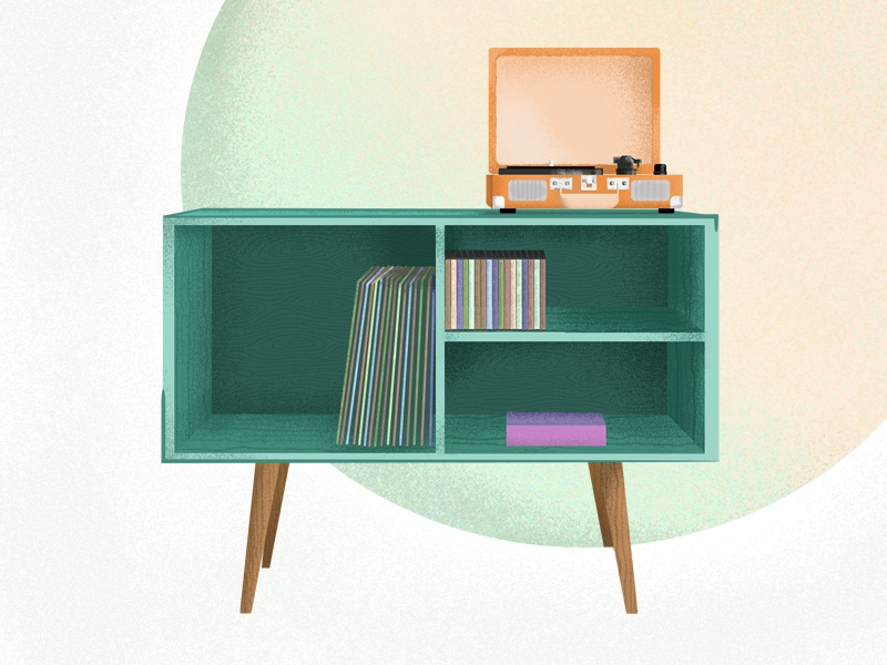 Midcenturyfurniture cabinet dribbble