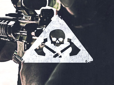 Tactical Logo identity logo branding skull axe triangle vintage photography