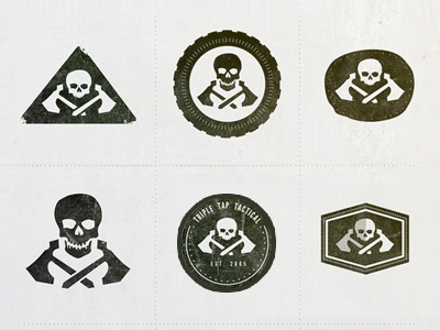 Tactical Logo Alts identity branding logo skull axe tactical