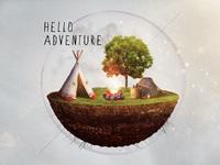 Hello adventure icon