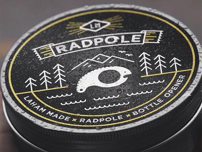 Radpole Label product design radpole line art label lahamamde handmade illustration packaging