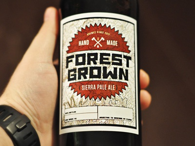 Forest Grown beer label package design personal project just for fun beer label