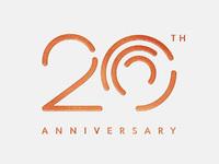 20th anniversary image white