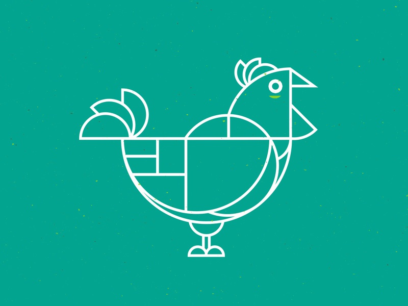 Chicken geometric green