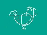 Chicken Geometric Green