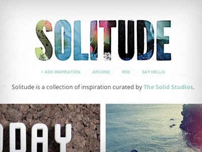 SOLITUDE tumblr responsive minimal blog inspiration typography colorful grid clean simplicity mobile