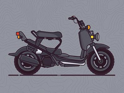 Ruckus Life ruckus moped scooter vector illustrator vintage illustration
