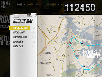 Ruckus Rove Map map honda ruckus scooter time flip clock