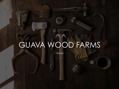 Guava Wood Farms Hawaii hardwork nature wood stamp print stationary logo identity branding