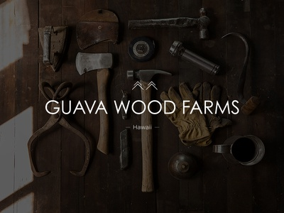 Guava Wood Farms Hawaii hardwork nature wood stamp print stationary logo identity branding