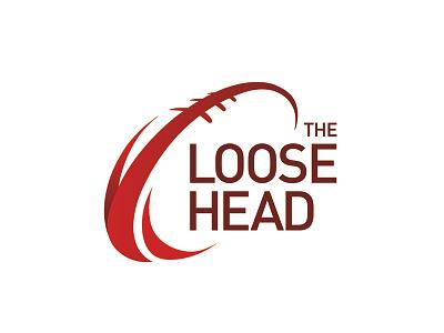 The Loose Head Logo head ball identity brand logo ireland sports rugby irish