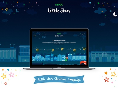 NSPCC little stars webdesign responsive user experience userinterface uidesign campaign ux web ui platform parallax logo interactive illustration fundraising children charity branding animation