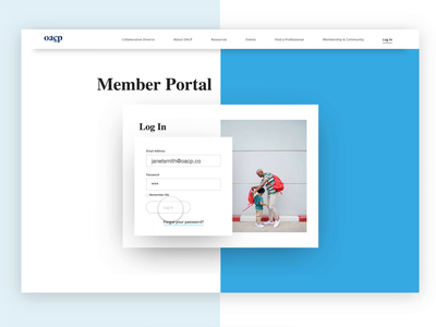 OCAP Member Portal Page ui design ui  ux desktop colour userinterface user experience responsive redesign webdesign website ux graphic font ui design typography identity branding