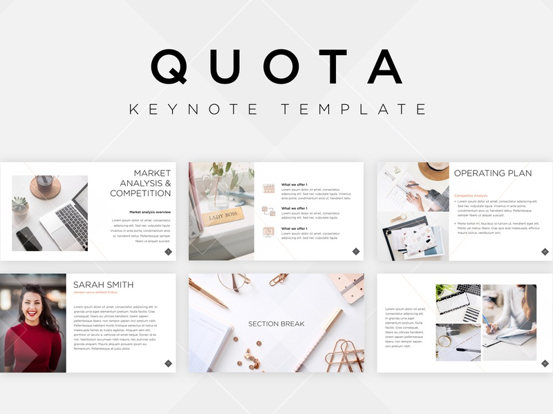 Quota Keynote Template corporate design corporate business mockup stock photo template pattern design keynote print template builder template design template purchase presentation template presentation design presentation design