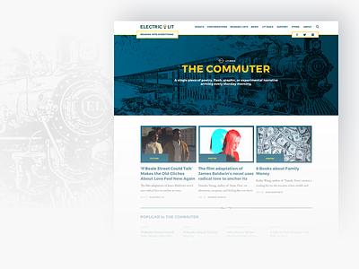 Electric Literature - The Commuter editorial design editorial illustration web branding responsive type website ux ui typography design