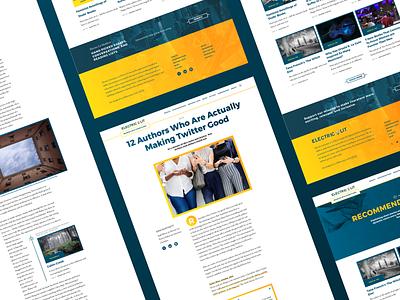 Electric Literature - Interior Pages editorial design web responsive branding editorial illustration type animation website ux ui typography design