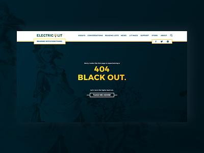 Electric Literature - 404 flat editorial editorial design mobile web branding responsive type animation website ux ui typography design 404