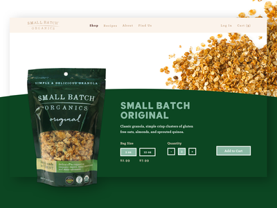 Small Batch - Product Page branding clean type website ux ui typography design product page