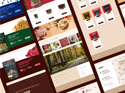 Small Batch Organics food and beverage food  drink food granola mobile web responsive animation type website ux ui typography design