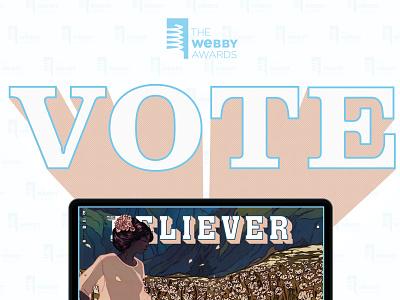 Vote for The Believer Magazine!! editorial animation web responsive branding type website ux ui typography design