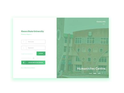 Kwara State University Portal Login Redesign school college universal photoshop redesign ui ux
