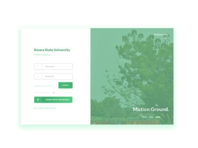 Kwara State University Portal Login Screen Redesign ux branding university college design ui