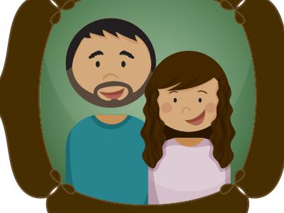 Family Portrait kidministry illustrator vector biblestories logos family portrait