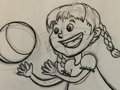 Girl illo wip illustrator cute vector