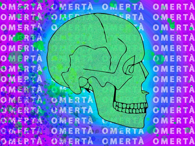 Album Art: Omerta Skull branding soundcloud design vector illustrator adobe photoshop album design graphic design austin texas album cover illustration