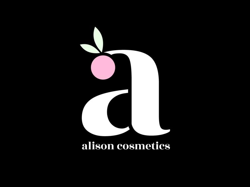 Alison Cosmetics Logo logos logo alisoncosmetics 30dayslogochallenge 30daylogochallenge logo design logo 2d graphic design designer branding concept brand and identity brand vector illustration design