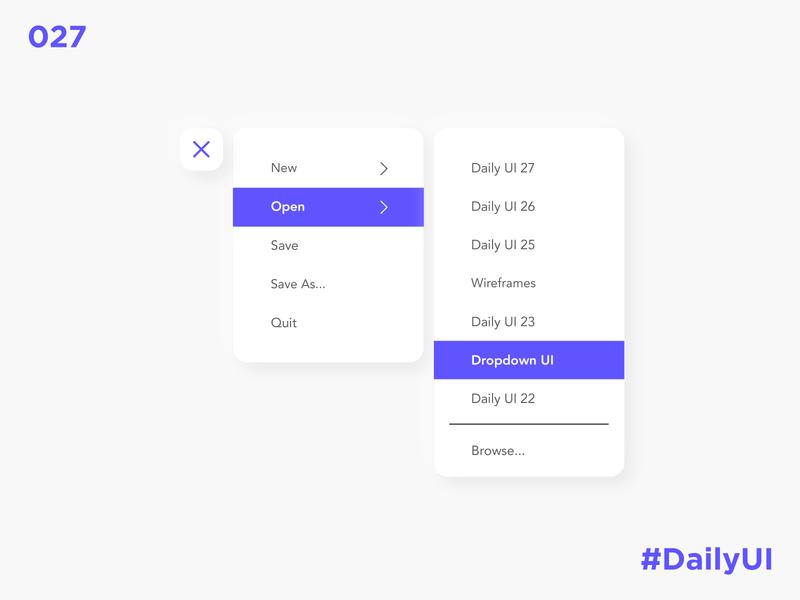 Daily UI 27 - Dropdown drop down dropdown dropdown ui dropdown menu ux app ui design dailyuichallenge dailyui