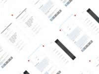 Wirframes for Arab News App ux transition dribbble drawing app news arab wirframes