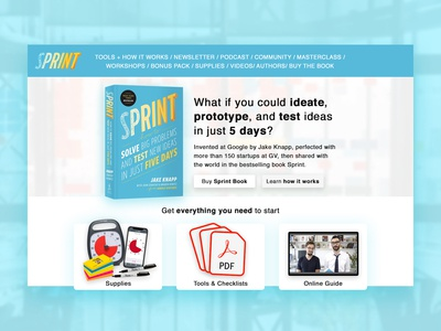 Design Sprint Book Website