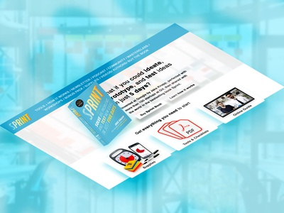 Design Sprint Book Isometric Website
