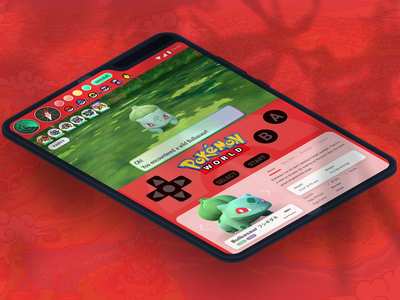 Pokemon World. Galaxy Fold Isometric fold galaxy mobile app ux branding design ui figma dailyui
